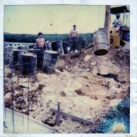 Evidence: A picture supplied by Kris Roberts, the former maintenance chief at the U.S. Marine Corps Futenma Air Station in Okinawa, shows the worksite where he says he unearthed around 100 barrels — some of which contained Agent Orange — in 1981.
