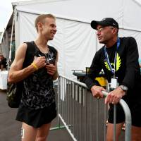 Coach Alberto Salazar and American distance runner Galen Rupp are in the eye of the storm over recent doping allegations. | AP
