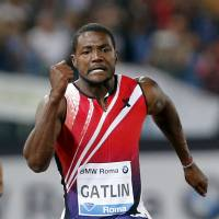 American Justin Gatlin, who has been suspended twice for doping, is now running the fastest times of his career at 33 leading many to question how he is accomplishing them. | REUTERS
