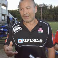 Japan rugby coach Eddie Jones will not continue on with the team after the 2015 Rugby World Cup. | KYODO