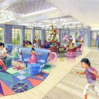 An artist's rendition shows the interrior of the projected fourth hotel by Oriental Land Co., the operator of the Disney theme parks in Japan, near Tokyo.