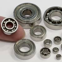 Minebea Co. ball bearings are arranged for a photograph. | BLOOMBERG