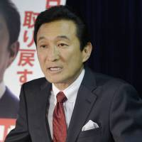 Watami founder Miki Watanabe speaks in May 2013 during a press conference after securing the endorsement by the Liberal Democratic Party for the Upper House election in which he won the House of Councillors seat he currently holds. | KYODO