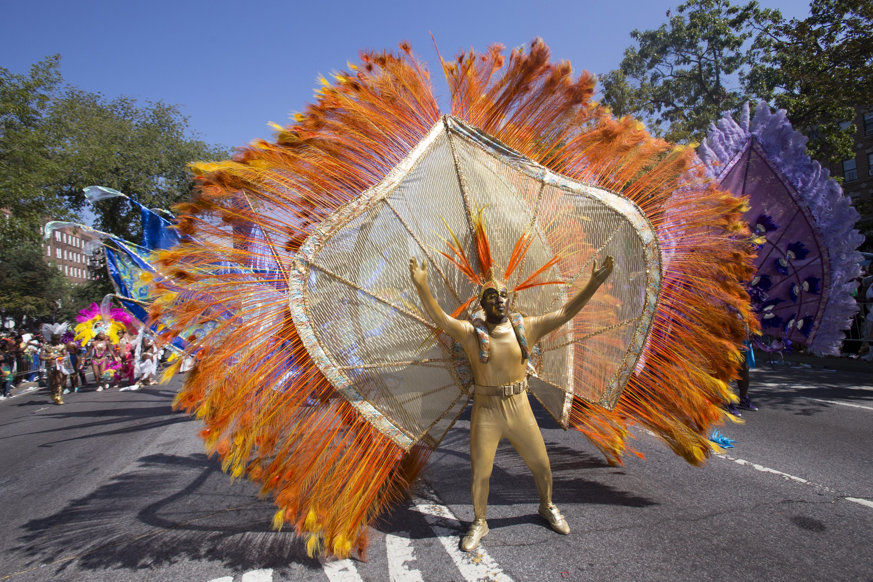 A Participant Dances During The West Indian Day Parade In Brooklyn New York