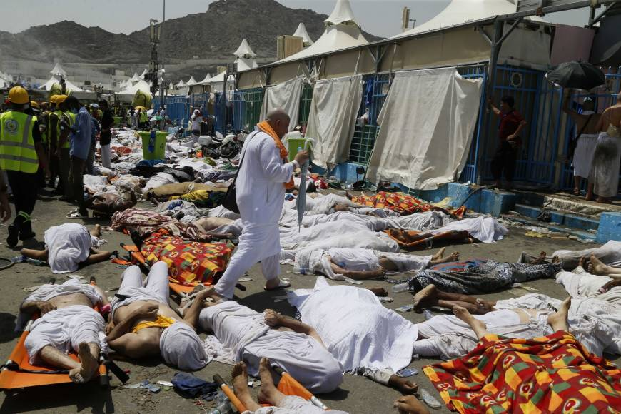 Hundreds of pilgrims dead in hajj stampede in Saudi Arabia