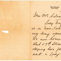 This image obtained Monday courtesy of Lion Heart Autographs shows part of a letter written by Lifeboat No. 1 survivor Mabel Francatelli (1880-1967) on New York's Plaza Hotel stationery six months after the disaster. | LION HEART AUTOGRAPHS / HANDOUT / AFP-JIJI