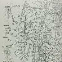 A 1970s U.S. Army map charts contamination on the U.S. military base in Okinawa. Today, a medical center and baseball field sit on a former chemical storage site. | JON MITCHELL