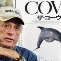 Anti-dolphin hunt campaigner Ric O'Barry is interviewed in Tokyo in June 2010. | AP