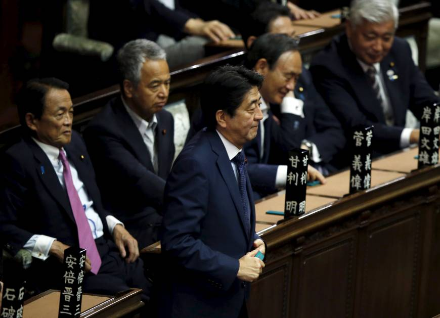Diet enacts security laws, marking Japan's departure from pacifism