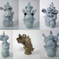 Yoko Inoue's 2012 'Mandala Flea Market Mutants: Pop Protocol and the Seven Transformations of Good-luck National Defense Cats' explored the influence of global neoliberalism on traditional crafts. | YOKO INOUE