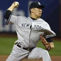 Masahiro Tanaka will miss his scheduled start against the Blue Jays on Wednesday because of a strained hamstring. | AP