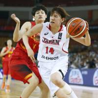 Japan's Sanae Motokawa scored a team-high 24 points in the FIBA Asia Women's Championship final on Saturday. | KYODO