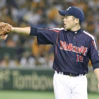 Veteran pitcher Masanori Ishikawa and the Swallows are close to winning the CL pennant for the first time since the 2001 season. | KYODO