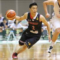 Yuki Togashi, pictured here playing for Japan in an exhibition against the Czech Republic last month, has joined NBL team Chiba Jets. | KAZ NAGATSUKA