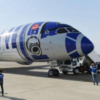 'Star Wars' paint job Show ANA ambition as Japan markets applaud