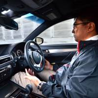 Toyota's driverless car is put through paces in Tokyo