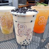 Gong Cha's extensive menu includes Black Milk Tea with Pearl,  Grapefruit Green Tea Ade and Milk Foam Green Tea | YOSHIAKI MIURA
