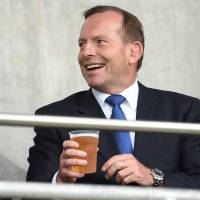 Abbott says he will pay for marble table damaged during 'wild party'
