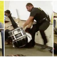Federal authorities probing policeman's videotaped, violent collar of student in class