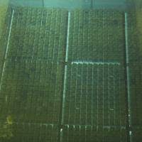 Spent nuclear fuel rods lie in a storage pool at the Rokkasho Reprocessing Plant, run by Japan Nuclear Fuel Ltd., in the Aomori Prefecture village of Rokkasho in November 2012. | AP