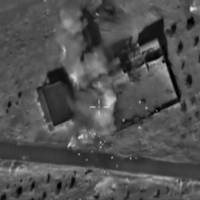 A frame grab taken from footage released by Russia's Defense Ministry Sunday shows what Russia says is smoke rising after airstrikes carried out by the Russian air force on locations controlled by Islamic State in Hama province, Syria. | REUTERS / MINISTRY OF DEFENSE OF THE RUSSIAN FEDERATION/HANDOUT VIA REUTERS