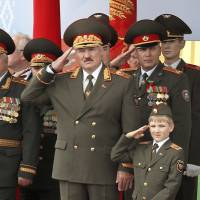 Is the boy with the golden gun being groomed to rule Belarus?