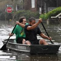 Carolinas inundated as deadly massive low blows through