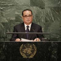 At U.N., Pyongyang puts it to U.S. to agree to peace treaty, not armistice, to ease tensions