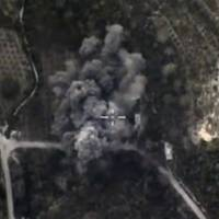 A frame grab taken from a footage released by Russia's Defense Ministry shows smoke caused by airstrikes carried out by the country's air force at an unknown location in Syria Monday. | REUTERS/MINISTRY OF DEFENCE OF THE RUSSIAN FEDERATION/HANDOUT VIA REUTERS