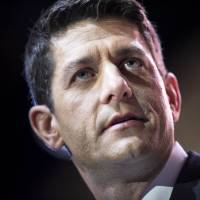 Rep. Paul Ryan addresses the American Conservative Union Conference in National Harbor, Maryland, in March 2014. | AFP-JIJI