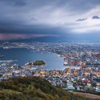 Hakodate, seen here from Hakodate Mountain, was ranked Japan's most attractive tourist destination for the second year in a row. | ISTOCK