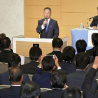 Ishin no To faction votes to dissolve party; legality of move questioned