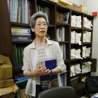 Junko Suzuki talks about the importance of Tokyo air raid damage maps as WWII reference materials. | KYODO