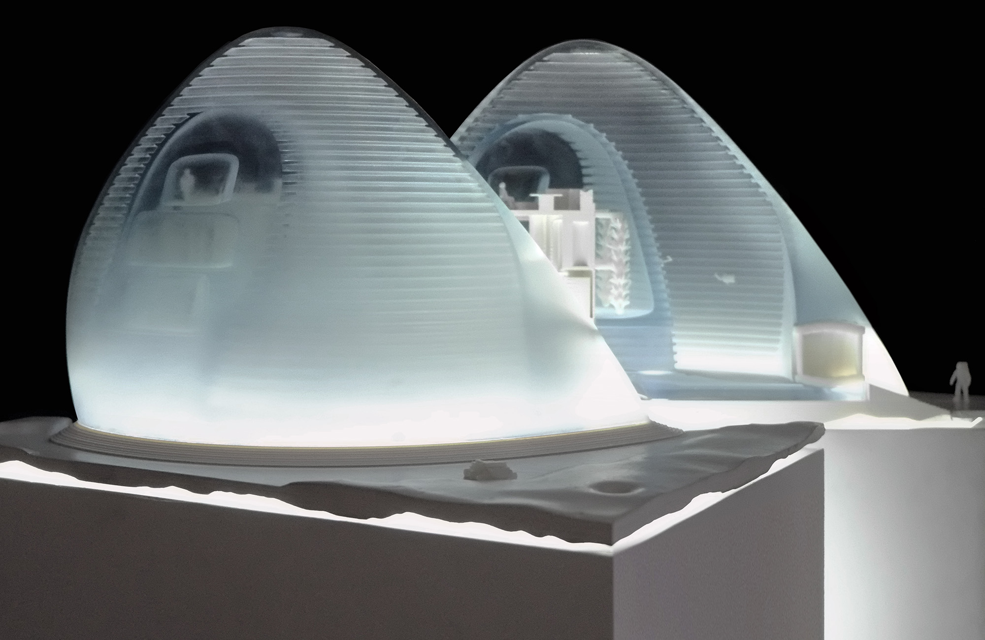 architect pair tap 3 d printing ice to share top nasa prize for mars habitat design the japan. Black Bedroom Furniture Sets. Home Design Ideas