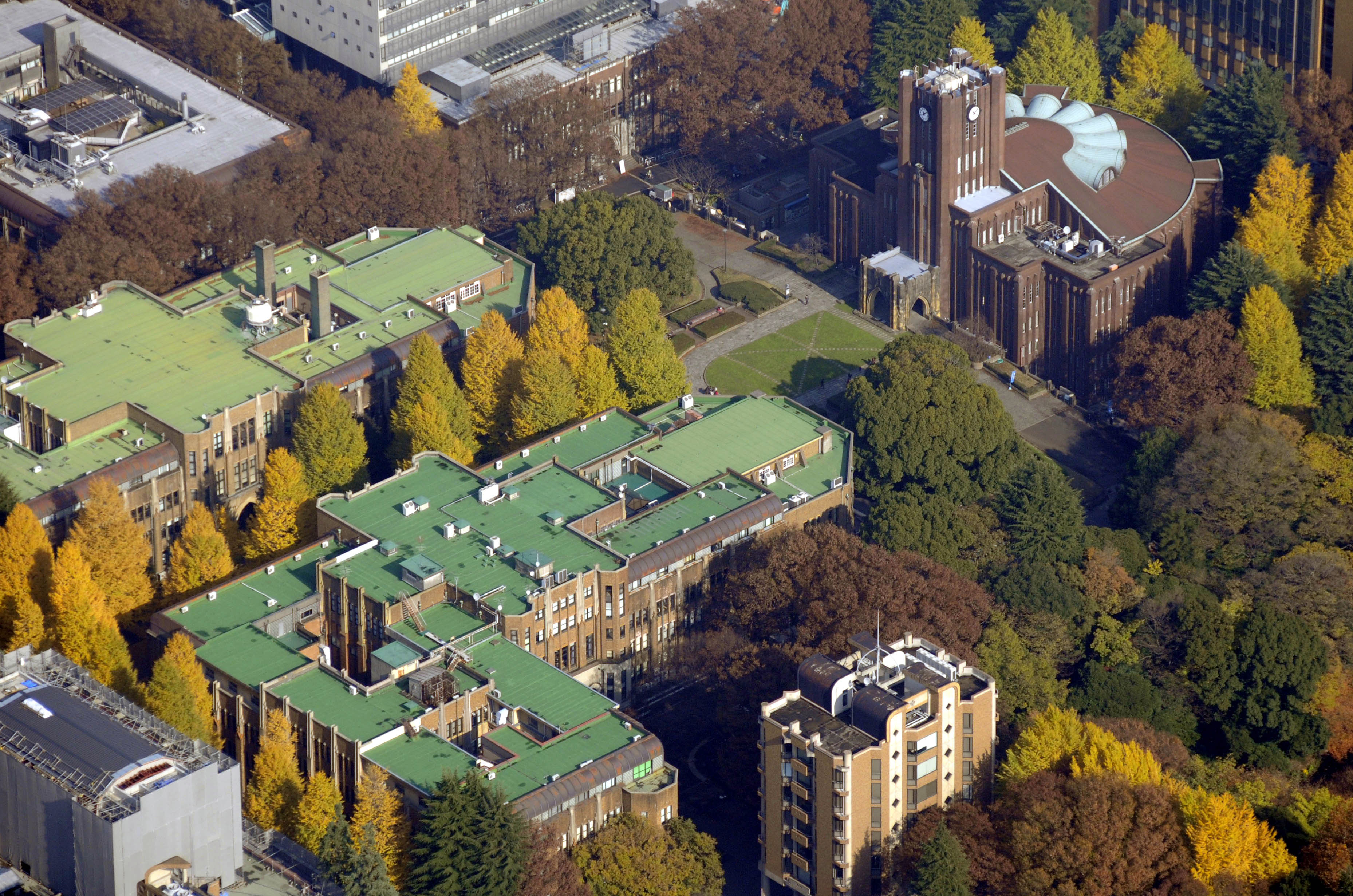 Undated file photo shows the buildings of the University of Tokyo in Tokyo's Bunkyo Ward. | KYODO