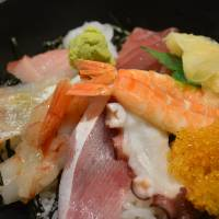 From market: Kaisendon seafood rice bowl with fresh catches. | J.J. O'DONOGHUE
