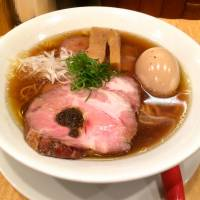 The noodles in both the shio and shoyu soba (above) are stone-ground from four kinds of wheat.   ROBBIE SWINNERTON