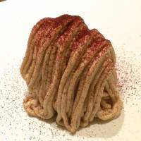 The desserts at Le Sputnik include a beautiful Mont Blanc with a dusting of cassis powder.   ROBBIE SWINNERTON
