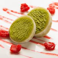 Heart of the matter: Ice cream-filled mochi is making an appearance at restaurants outside Japan. | COURTESY OF PALM PR