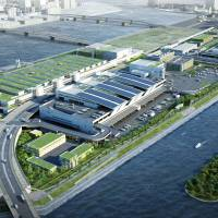 Fresh start: An artist's impression of the new facilities that are under construction in Tokyo's Toyosu district  Metropolitan Central Wholesale Market | METROPOLITAN CENTRAL WHOLESALE MARKET