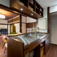 Everything, including the kitchen sink: The kitchen of a townhouse in Teramachi, Kanazawa, after renovation | COURTESY OF HAYASHI ARCHITECTURAL DESIGN STUDIO AND OKUMURA DESIGN