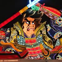 One of the Nebuta floats on display at the Wa Rasse museum in Aomori | MANDY BARTOK
