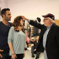 Acting class: Harold Prince gives direction to 'Prince of Broadway' actors in New York ahead of the production's debut in Japan. | TAKU