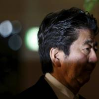 Top down: Prime Minister Shinzo Abe has been part of a rightward lean at the top of Japan's political structures. | REUTERS