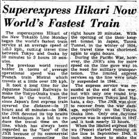 Emperor Yoshihito's coronation; crowds pack Tokyo dance halls before ban; Hikari superexpress now world's fastest; nearly 600 dolphins slaughtered in Nagasaki