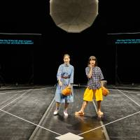 Dumb struck: Wi Sung Hee (left) and Aoi Nozu at a loss in 'God Bless Baseball.' | ASIAN ARTS THEATRE / MOON SO YOUNG