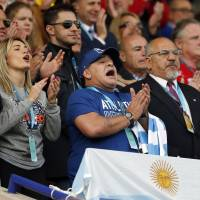 Argentina beats Tonga to move closer to RWC quarters