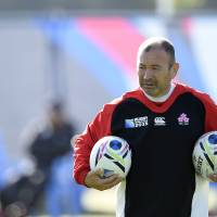 Eddie Jones is stepping down as Japan coach after leading the Brave Blossoms to three wins at the Rugby World Cup in England. | AFP-JIJI