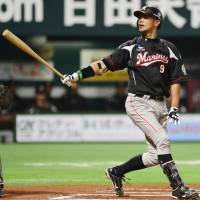 Kazuya Fukuura and the Chiba Lotte Marines fell into a 2-0 hole in their Pacific League Climax Series final stage series against the Hawks simply by losing Game 1 on Wednesday. | KYODO
