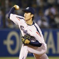 Toshihiro Sugiura is expected to pitch at some point for the Tokyo Yakult Swallows as they try to dig themselves out of a 0-2 hole against the Fukuoka Softbank Hawks in Game 3 of the Japan Series on Tuesday. | KYODO